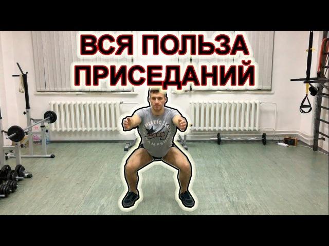 ВСЯ ПОЛЬЗА ПРИСЕДАНИЙ! Лучшее упражнение для ног и ягодиц. Фитнес для здоровья!