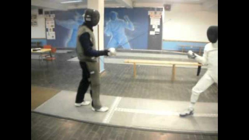 Scherma per non vedenti - fencing for the blind - M° Giancarlo PUGLISI lezione a non vedente