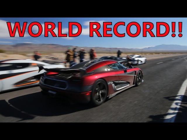 Insane Koenigsegg Agera RS Breaks TOP SPEED WORLD RECORD