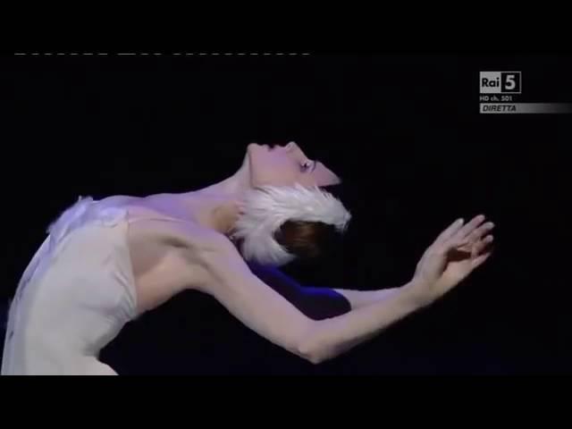 Svetlana Zakharova The Dying Swan Ballet Gala a La Scalla 30 10 20151