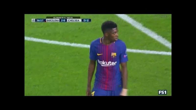 Усман Дембеле в матче против Челси