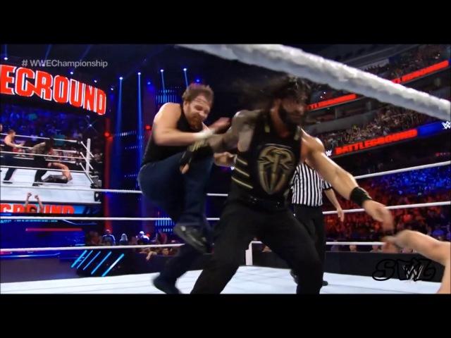 Seth Rollins vs Dean Ambrose vs Roman Reigns Highlights HD Battleground 2016