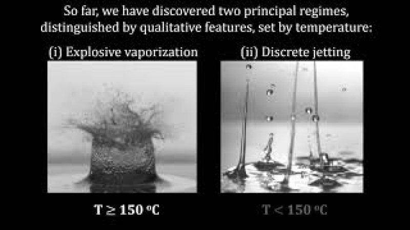 Out of the frying pan: Explosive droplet dynamics