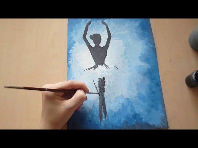 Рисунок балерины гуашью | ПРОЦЕСС РИСОВАНИЯ Creative_Nastya