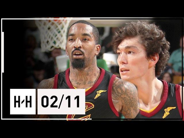 JR Smith Cedi Osman Highlights Cavaliers vs Celtics 2018 02 11 CRAZY Poster by JR