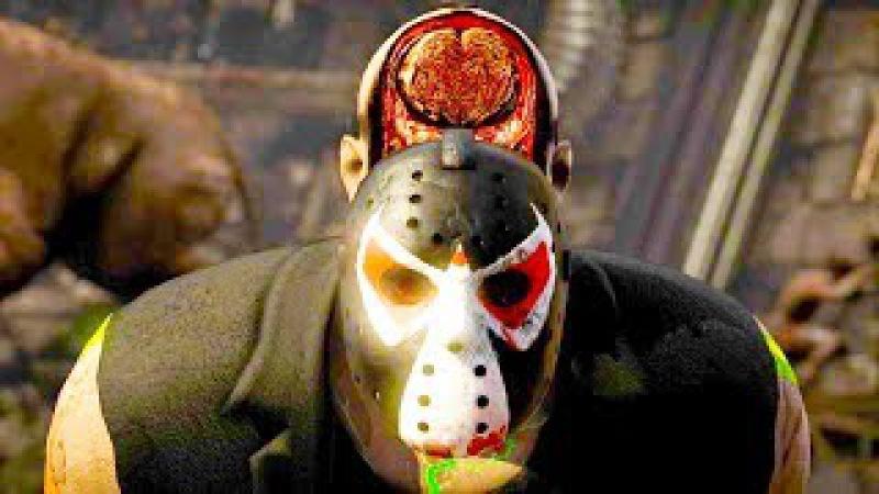 Mortal Kombat XL - All Fatalities X-Rays on Bane Jason Costume Mod 4K Ultra HD Gameplay Mods