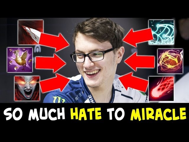 So much HATE to Miracle mid — COMEBACK from early game stomp