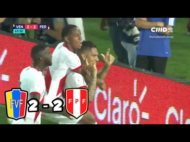 VENEZUELA vs PERU 2 - 2 ELIMINATORIAS RUSIA 2018 PARTIDO COMPLETO FULL HD