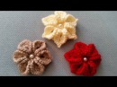 3D çiçek nasıl yapılır tığ işi çiçek yapimi Örgü modelleri