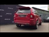 Custom exhaust на компонентах fortluft сваренный в fili-tek на Volvo XC90 V8