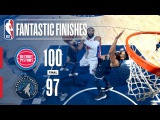 Pistons vs Timberwolves - Best Plays From the 4th Quarter  November 19, 2017