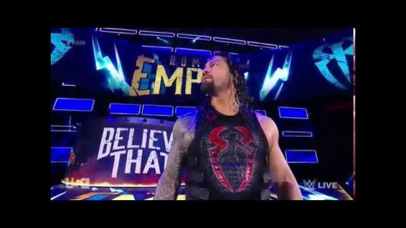 (Wrestling Premium) Full Match Roman Reigns vs Sheamus - WWE RAW 12th February 2018