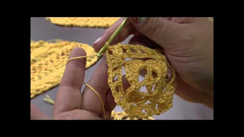 Mulher.com 24/11/2014 - Blusa Amarela Croche de Grampo por Eliete Massi - Parte 2