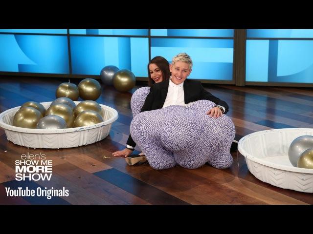 Sofía Vergara and Ellen Play 'Stuff Your Granny Panties'