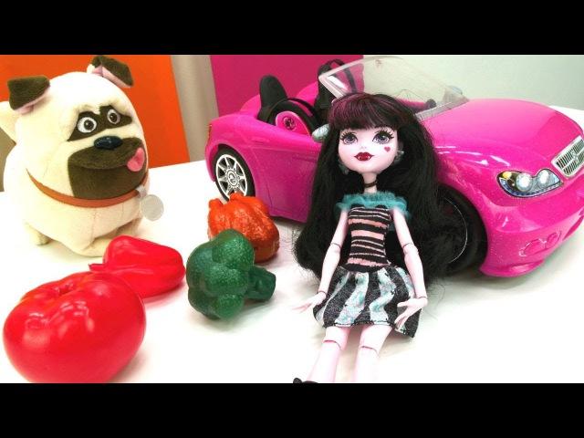 Игры для девочек. Необычный шоппинг куклы Монстер Хай.