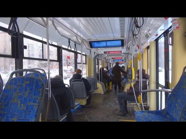 Поездка на трамвае 71-931М Витязь-М от Бульвара Рокоссовского до Комсомольской пл...