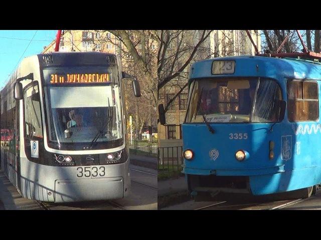 Встреча трамваев МТТА или Tatra-t3 №23 и 71-414 Pesa Fokstrot №31
