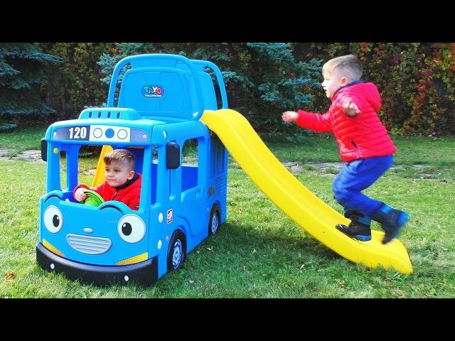Wheels On The Bus Tayo Little Bus Nursery Rhymes Songs for Kids Children Babies