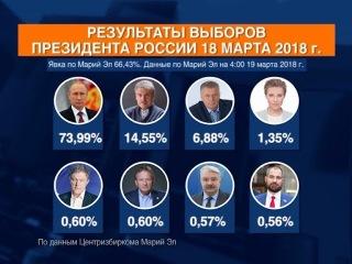 В Марий Эл подвели итоги выборов президента РФ