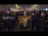 Ukraine: Thousands honour nazis leader S.Bandera in torch lit procession