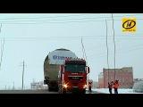 Шлюз для атомной электростанции под Островцом едет через Витебск