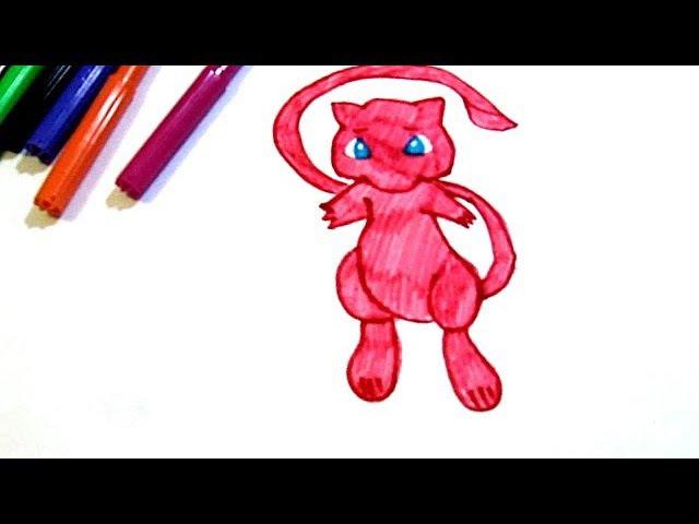 Как быстро нарисовать розового покемона из Pokemon Go
