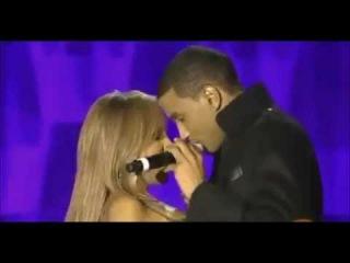 Trey Songz and Toni Braxton Kiss