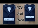 DIY /Suit Jacket/Tuxedo Birthday Card/How to make Greetings for Birthday/Father's day/Valentine day