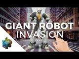 Apple ARkit - GIANT ROBOT Invasion!