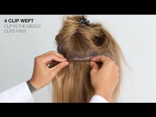 Трессы из натуральных волос на клипсах. Как прикрепить.