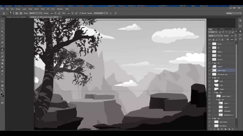 Stylized Environment Painting Demo1 with Phil Dimitriadis