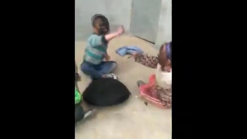 BABIES ARE PLAYING STRANGE GAME