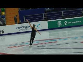 Каролина Костнер.Rostelecom Cup 2017 Тренировка 19.10