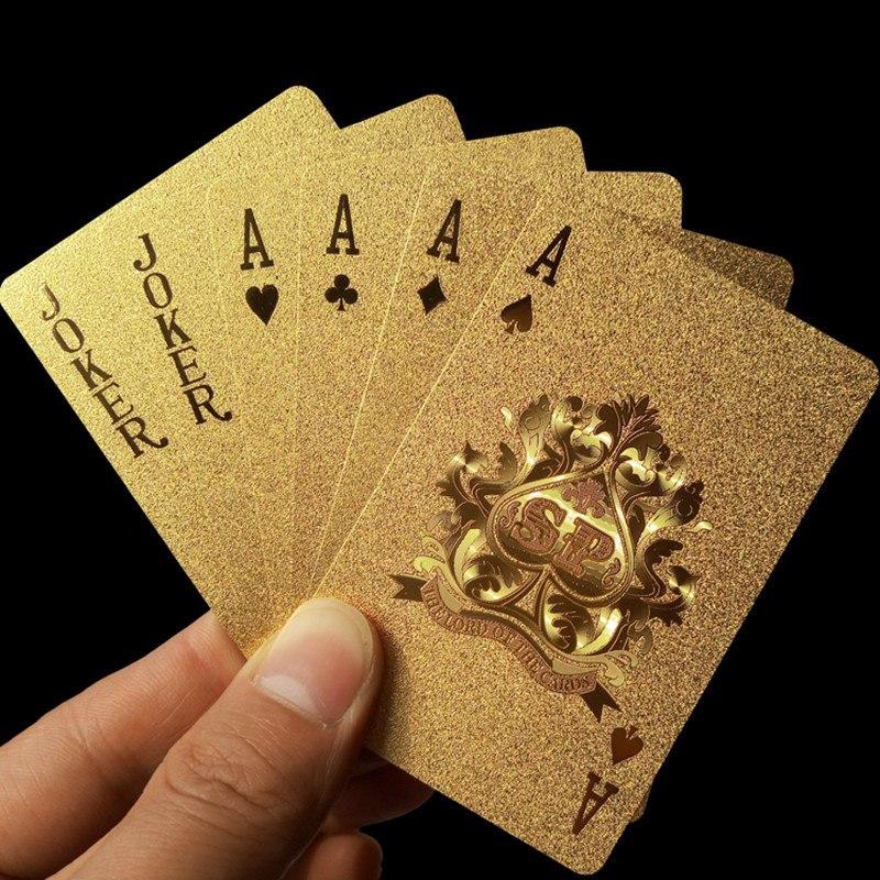 Золотые Водонепроницаемые КАРТЫ