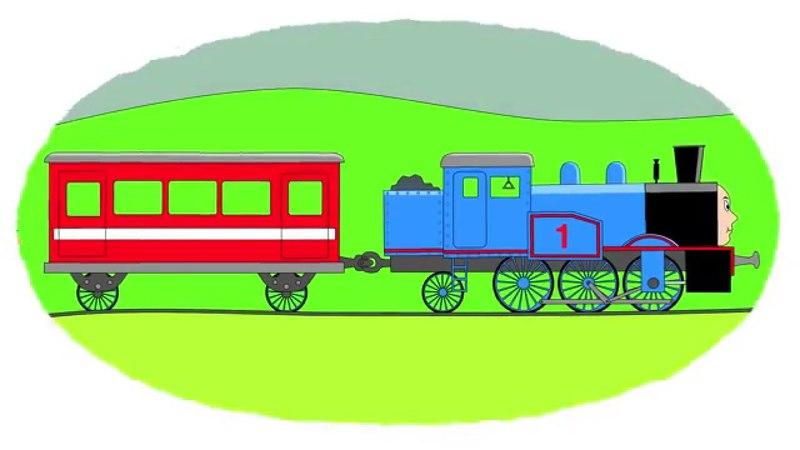 Zeichentrick-Malbuch - die berühmten Eisenbahnzüge. Teil 1