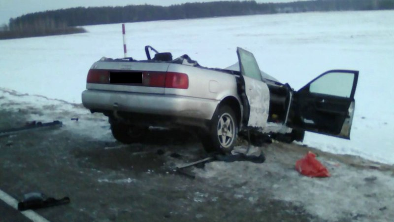 ДТП Пинском районе: Audi лоб в лоб влетел в МАЗ — водитель легковушки погиб