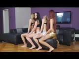 4 girls sitting on 1