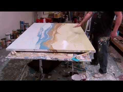 Artist Paul LaFlam: Creation of Large-Scale One-Shot Expressionist Paintings