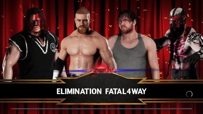 SBW Raw - Buddy Murphy vs Dean Ambrose vs Abyss vs Psycho D