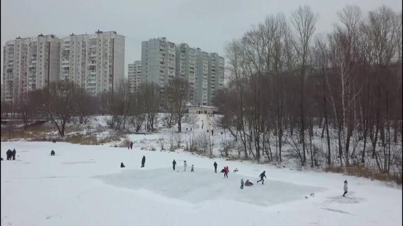 Зимняя река Пехорка, Балашиха 13 01 2018г