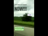 Traveling from Cincinnati to Pittsburgh for LMDCtour via Lea Micheles Instagram Story, June 1, 2018