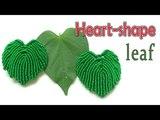 Macrame tutorial The basic heart-shape leaf pattern for bush of spadix -Th