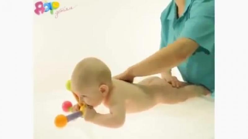 Массаж и гимнастика для детей 9-12 месяцев
