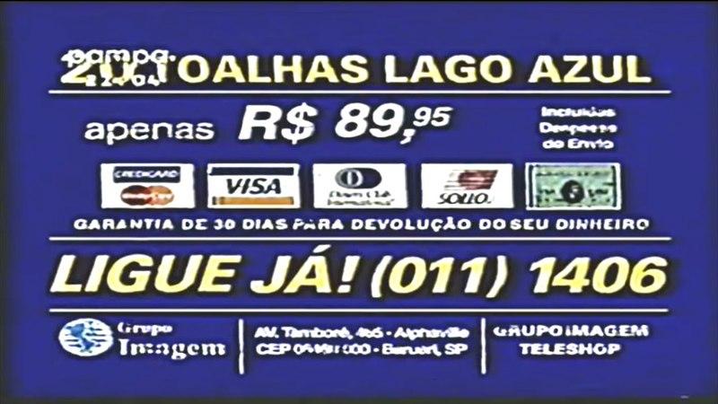 Grupo Imagem Teleshop: Toalhas lago azul - 1997