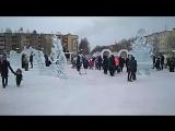 Открытие ледового городка. Нефтеюганск. Он-лайн.