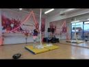 Полина Бурдакова начинающие Первый чемпионат по воздушной гимнастикеи Еврофитнес