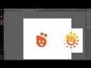 Иллюстратор База Часть 21 Апельсиновый Логотип Часть 2