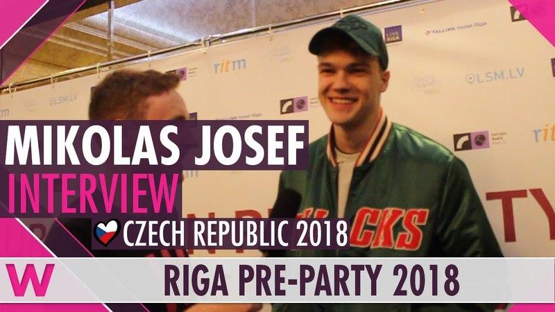 Mikolas Josef (Czech Republic 2018) Interview | Eurovision Pre-Party Riga 2018