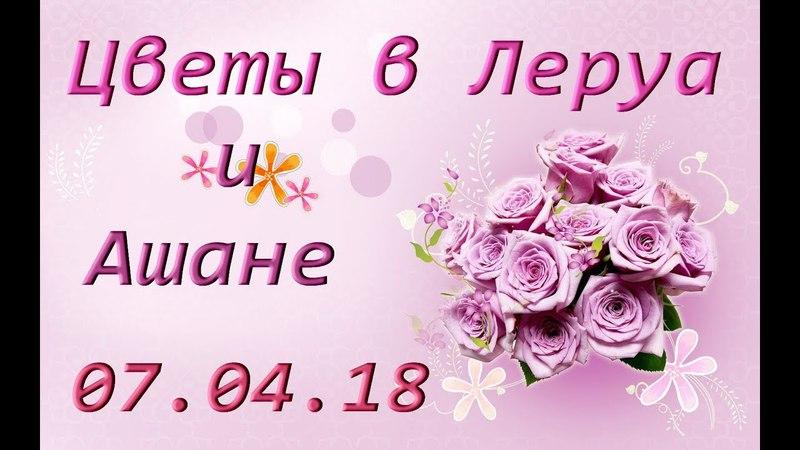 ЦВЕТЫ в ЛЕРУА и АШАНЕ,07.04.18.
