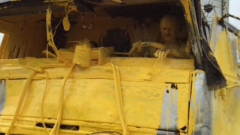 Гомер симпсон за рулём КамАЗа